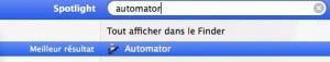 Lancement d'automator sous Mac OSX