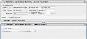 Modifier la casse des images sous automator