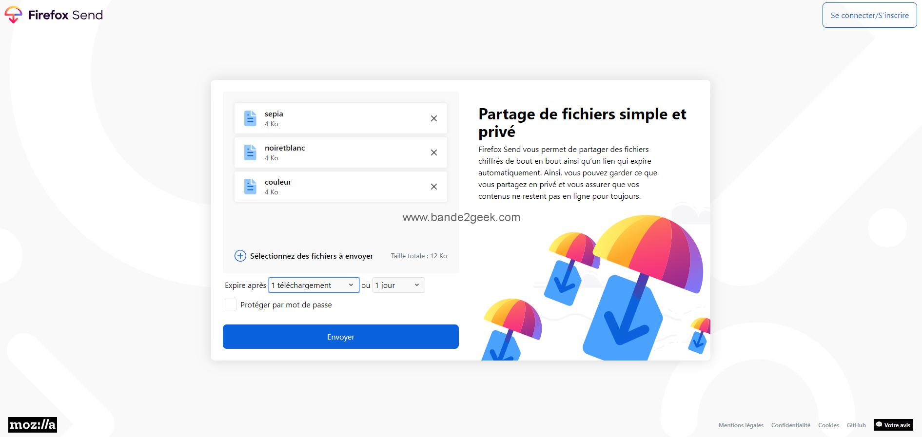 Firefox Send Telechargement